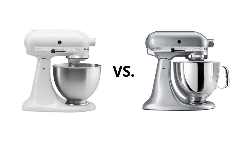 kitchenaid classic vs kitchenaid artisan