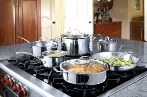 Tri-Ply Stainless Steel Cookware Set